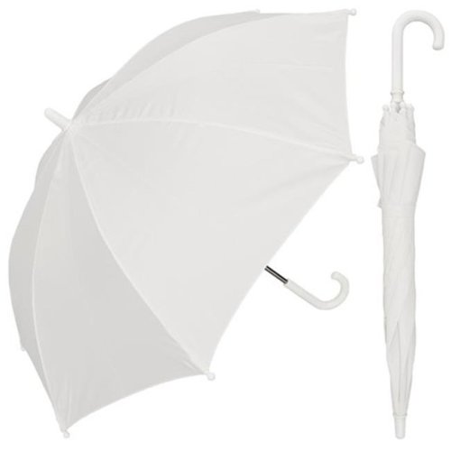 RainStoppers W101CHWH 32 in. Childrens Solid White Umbrella, 3 Piece