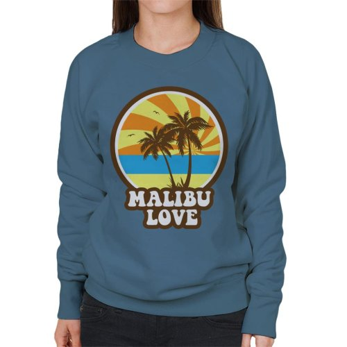 Malibu Love Retro Sunset Women's Sweatshirt