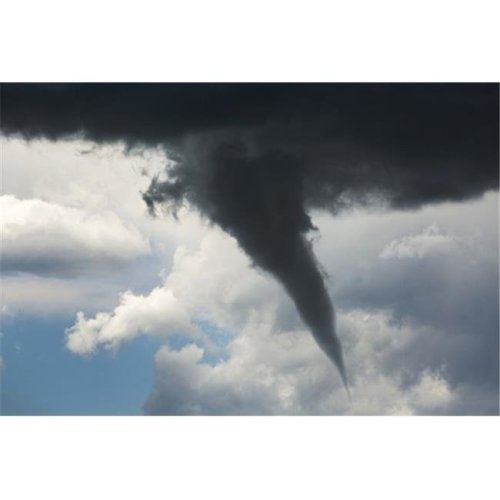 Dramatic Funnel Cloud Created in Dark Storm Clouds - Calgary Alberta Canada Poster Print by Michael Interisano, 38 x 24 - Large