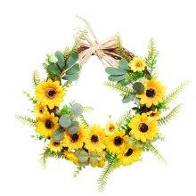 Artificial Sunflower Summer Wreath Front Door Indoor Wall Decor