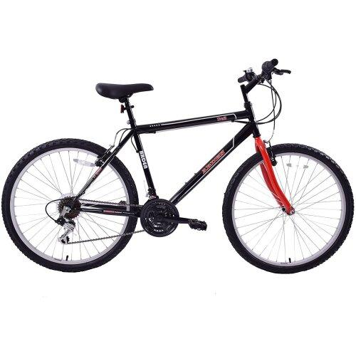 "Ammaco Arden Trail 26"" Wheel Adults Mountain Bike 19"" Frame Black/Red"