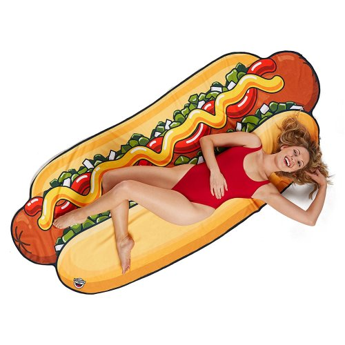 Beach towel Hot Dog towel beach blanket Hotdogtuch sheets approx 216 x 95 cm Size