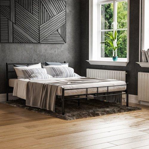 (Double, Black) Vida Designs Dorset Metal Bed Frame | Modern Bedstead
