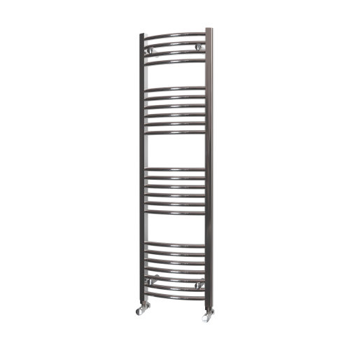 HB Essentials Zeno Chrome Curved Ladder Heated Towel Rail 1400mm x 400mm Central Heating