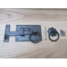 Hand-forged cottage door latch Antique Iron Left Handed