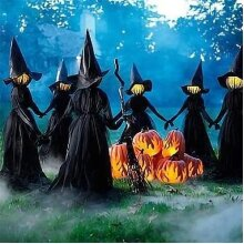 Halloween Light-Up Witches Ghost Decoration