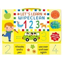 Let's Learn Wipe Clean 123 - 4 Books & Pen