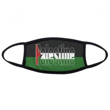 Palestine Country Flag Name Mouth Face Anti-dust Mask Anti Cold Warm Washable Cotton Gift