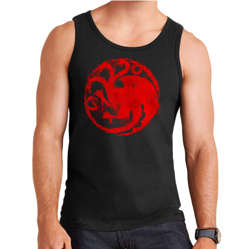Game of Thrones Targaryen Sigil Three Headed Dragon Spray Men's Vest