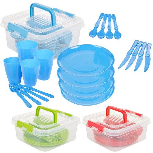 21pc Geezy Plastic Picnic Set With Storage Box