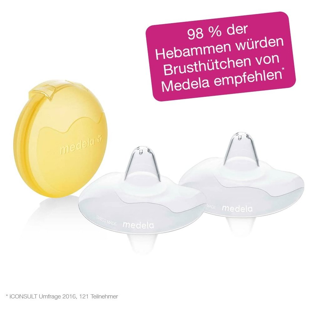 Medela 16 mm Contact Nipple Shields with Case Small 16mm nipple shield
