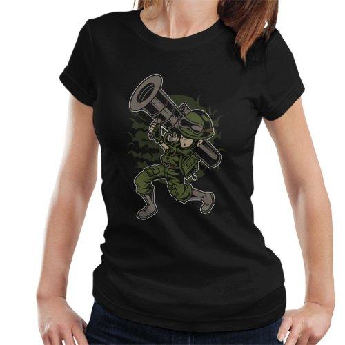 Cartoon Rocket Launcher Women's T-Shirt