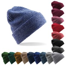 Beechfield Unisex Heritage Double Layer Knitted Warm Wooly Winter Ski Beanie Hat