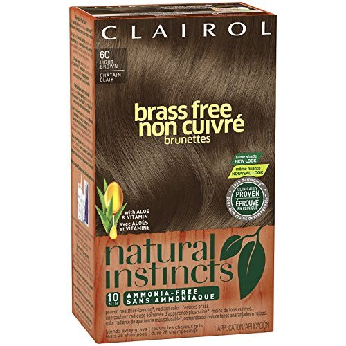 Clairol Natural Instincts 6C Brass Free Light Brown