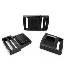 Black plastic quick release buckles adjustable