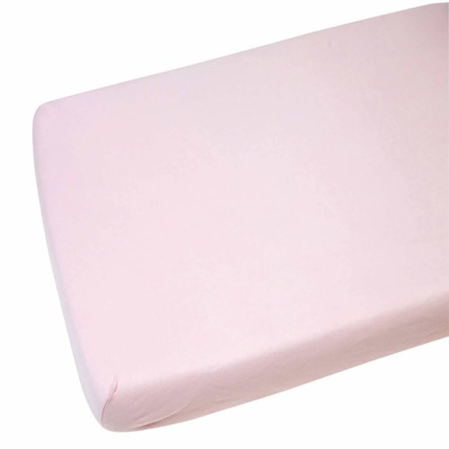 Spacesaver Cot Fitted Sheet 100/% Cotton 100cm X 52cm Pink