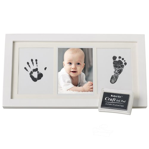 Birthday Gifts Vintage Photo Frames Set of 3 Pieces Handicrafts Home Baby Picture Frame for Newborn Girls and Boys Shower Grey