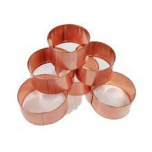 Copper Slug Rings x6