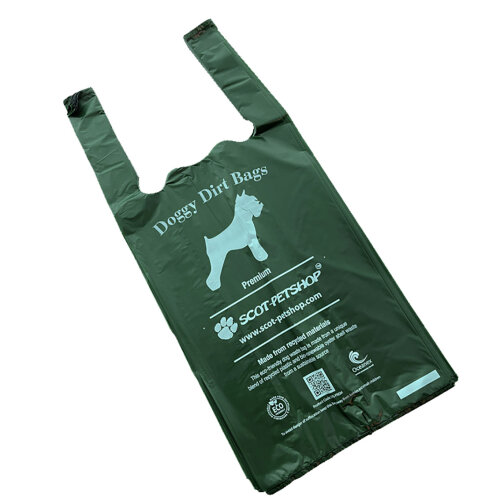 SCOT-PETSHOP PREMIUM Large Green Dog Waste Bags 500 (Not On A Roll)
