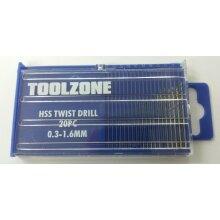 20pc HSS Micro Drill Bits 0.3mm - 1.6mm Craft Bead Model Maker Tools