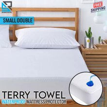 Terry Towel Waterproof Mattress Protector Cover Small Double