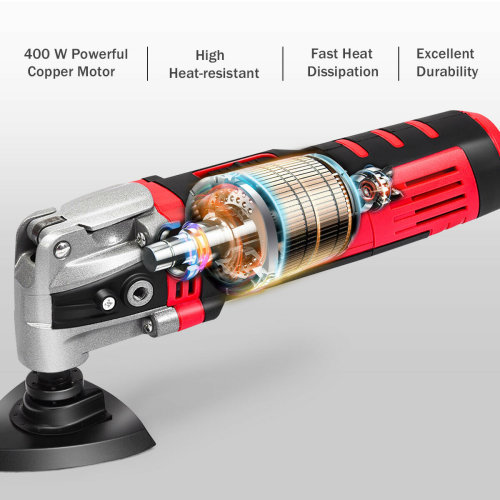 400W Electric Oscillating Multi Function Sander Scraper Cutter Power Tool Set