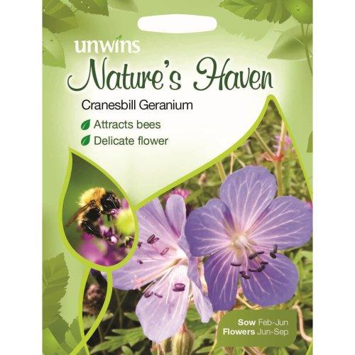 Unwins Pictorial Packet - Natures Heaven Cranesbill Geranium - 50 Seeds