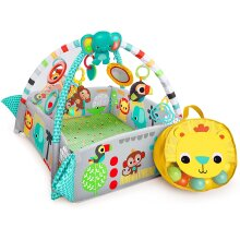 5-in-1 Your Way Ball Play, Mat & Activity Gym with 35 Balls, 12 Toys and 20 Minutes of Lights and Music, green