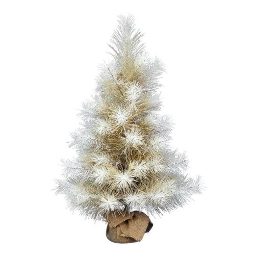 Vickerman D184530 3 ft. Artificial Frosted Japanese White Pine Tree with Pinecones - Pack of 6