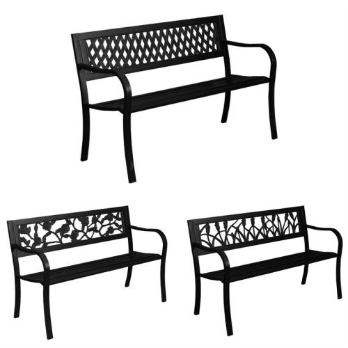 3 Seater Steel Garden Bench   Metal Outdoor Bench
