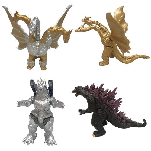 4PCS Monster Figure Godzilla Action Toy Kids Gift