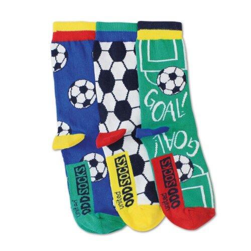 United Oddsocks Goal Set of 3 Odd Socks Bright Football Boys UK 12-6