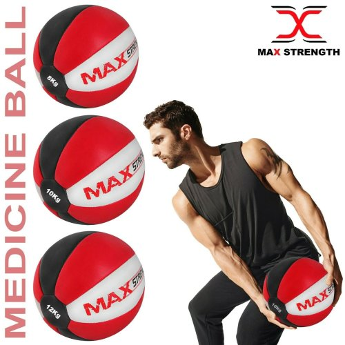 Medicine Ball Rex Leather Fitness Weight Exercise