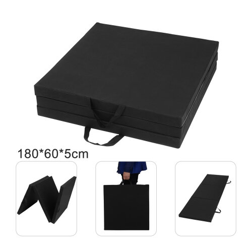 6FT Gymnastic Exercise Tri Folding Mat 50MM Thick Yoga Gym Floor