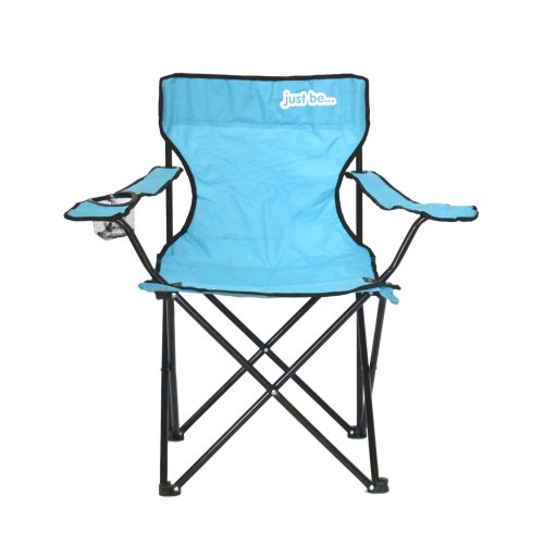 just be...® Folding Camping Chair - Light Blue with Black Trim