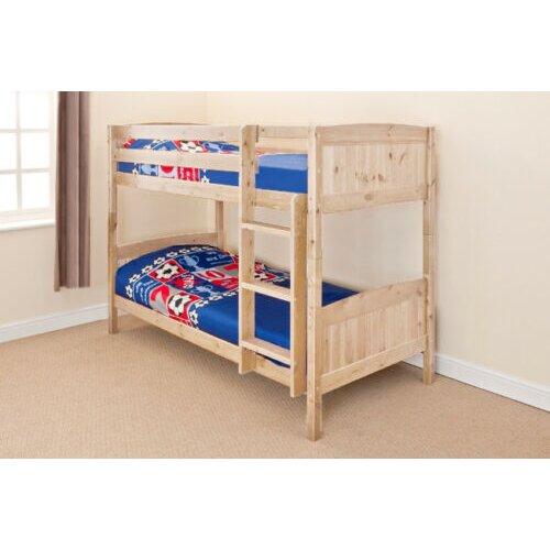 (Natural) Kensington Wooden Bunk Bed with Kerri Mattresses