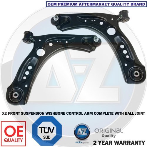 for AUDI S3 VW GOLF GTI R X2 FRONT AXLE SUSPENSION WISHBONE CONTROL ARM ARMS NEW