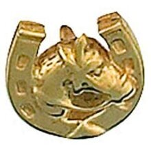Horseshoe Lapel Pin Cravat Pin 9ct Gold Made in Jewellery Quarter B'ham