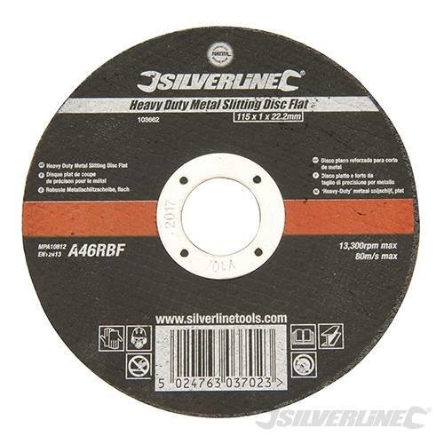 Heavy Duty Metal Slitting Disc 115 x 1.2 x 22.23mm Pack Of 10
