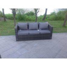 Grey mixed 3 seater rattan Sofa patio outdoor garden furniture