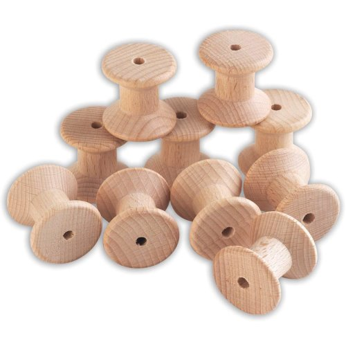 TickiT 73907 Wooden Spools - Pack of 10