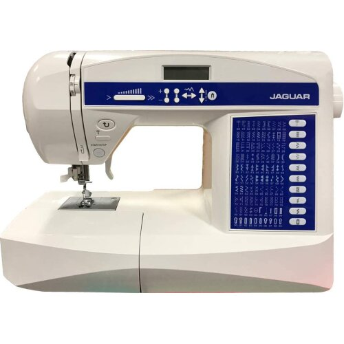 Jaguar HD-696 Computerised Sewing Machine Quilting Edition, Includes Extension Table, Hard Case, Scissors, Walking Foot, Embroidery Foot, Thread &More