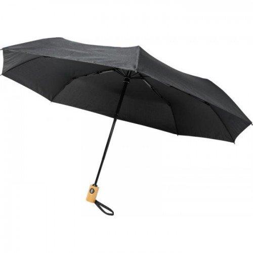 (One Size, Solid Black) Avenue Bo Foldable Auto Open Umbrella