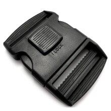 Lockable plastic side release buckle for 50 mm APG