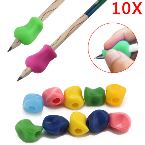 10X Soft Jelly Pen or Pencil Grips Childrens Handwriting Aid Control Correc