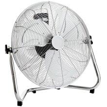 Oypla 20 Inch 3 Speed Chrome Floor Standing Gym Fan