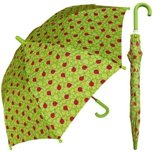 RainStoppers W104CHGREENBUG 32 in. Childrens Ladybug Green Print Umbrella, 3 Piece
