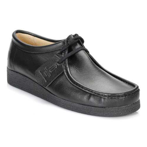 Tower Black Napa Leather Wallaby Shoes