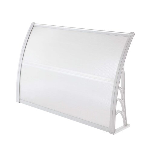 (White ) Door Canopy Awning Shelter Canopy Outdoor Porch Shade