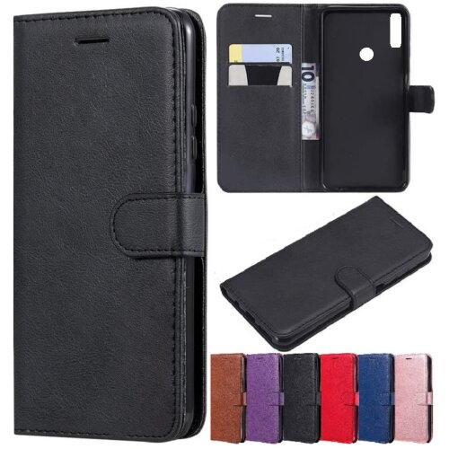 Huawei Y6 2019 Wallet Flip Case Leather Magnetic Stand Cover